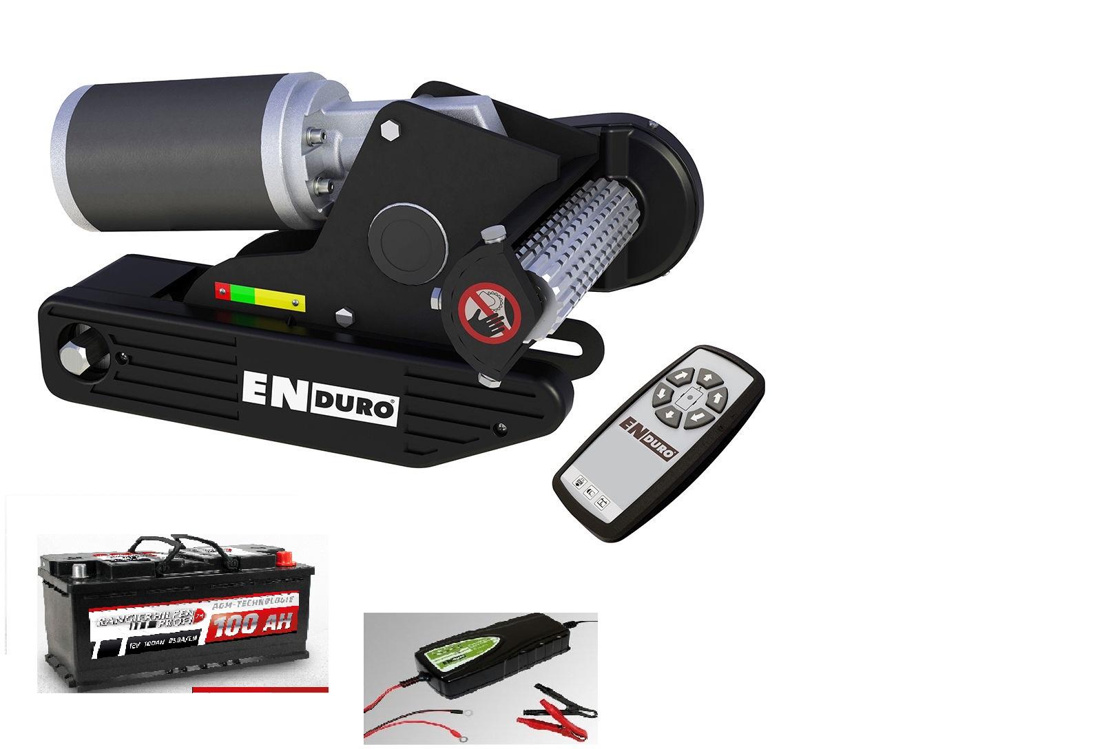 Enduro Em203 Agm Batterie 12v 100ah Ladegerät As1210 Wohnwagen