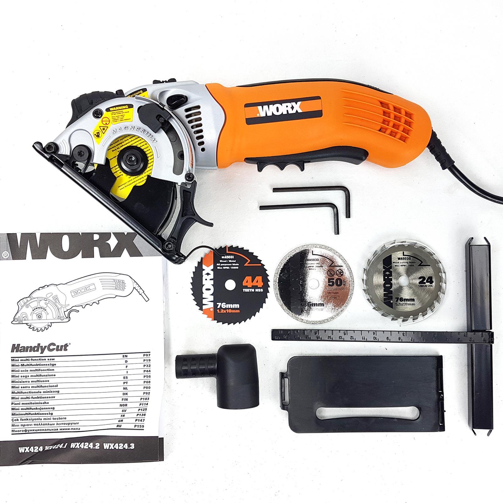 worx mini handkreissäge tauchsäge mini säge 310watt + laser +