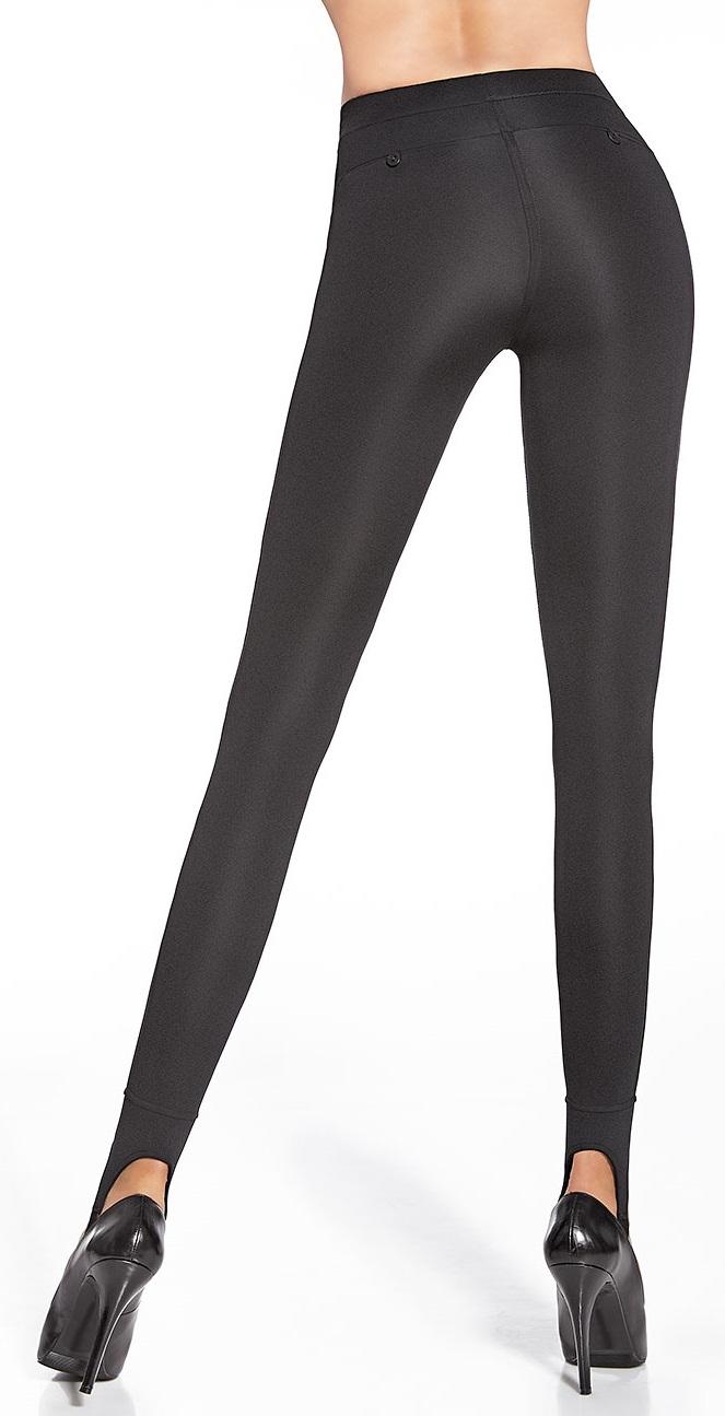 Push Up Effekt formend modellierend Shape-Leggings Gr Leder-Optik S-XXL
