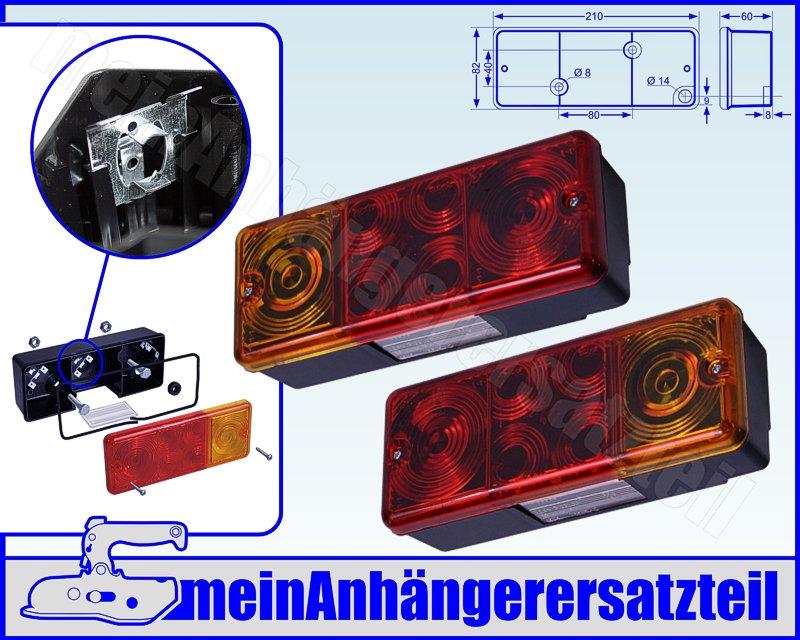 2x DDR R/ückleuchten R/ücklichter rund ohne KZL f/ür DDR Anh/änger /& IFA Fahrzeuge