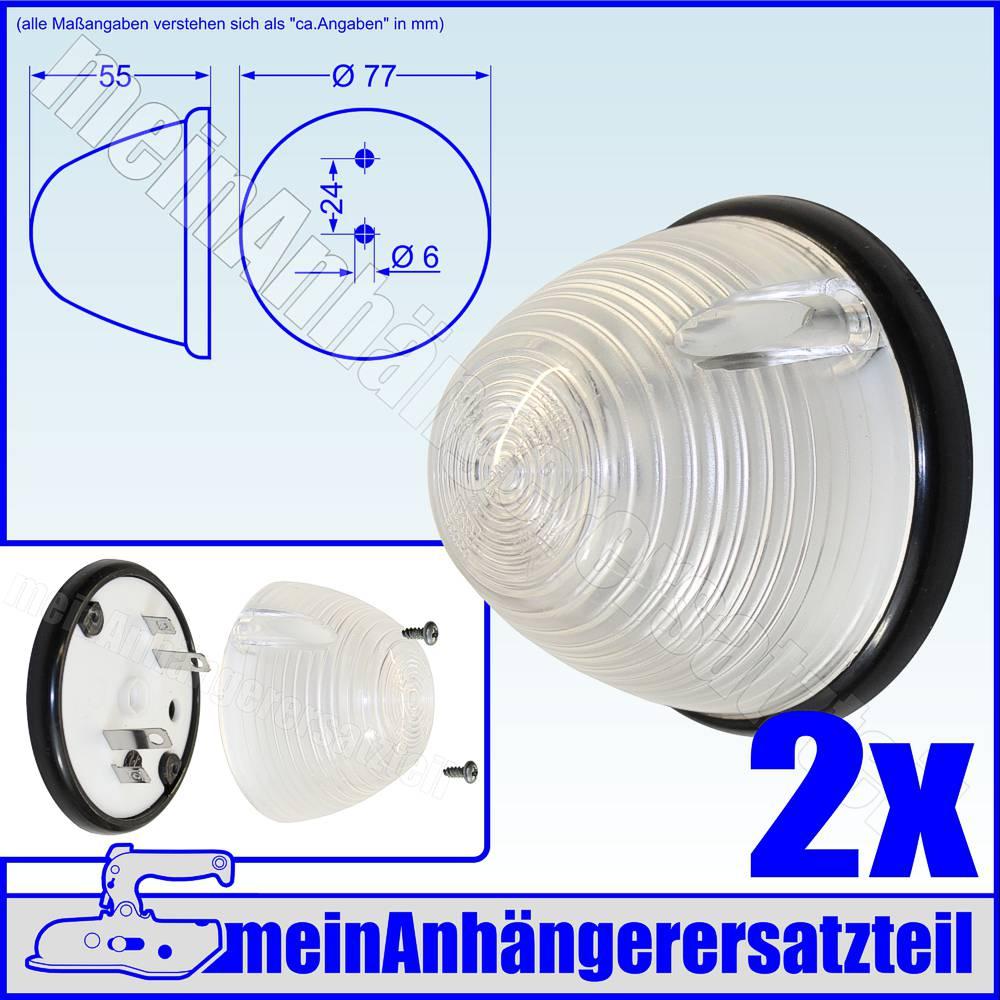 Lichtscheibe weiß 55 mm für Begrenzungsleuchte