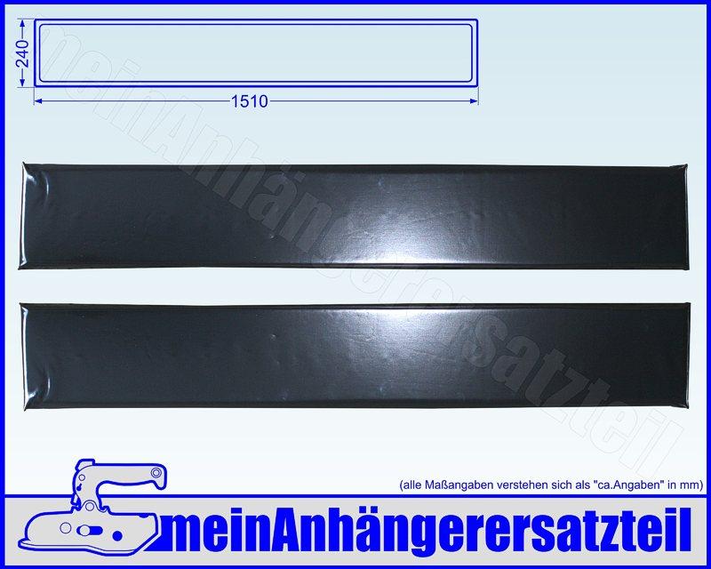 1m PVC Bruststangenschlauch für 42mm Bruststangen für Pferdeanhänger schwarz