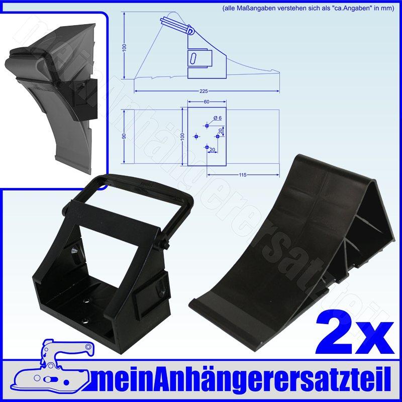 Kunststoff Plastik Unterlegkeil Hemmschuh 5t Radlast UK46 G46 nach DIN 76051-46