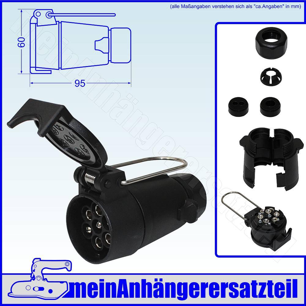 ABSCHALTKONTAKT NEBELSCHLUSSLEUCHTE STECKDOSE 7-POLIG ISO 1724 12V