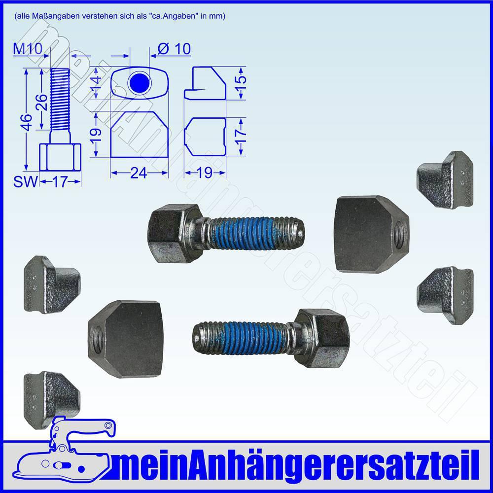 4x Knott Nachstellbolzen Nachstellkeil für Radbremse 160x35 200x50 20-2425//1