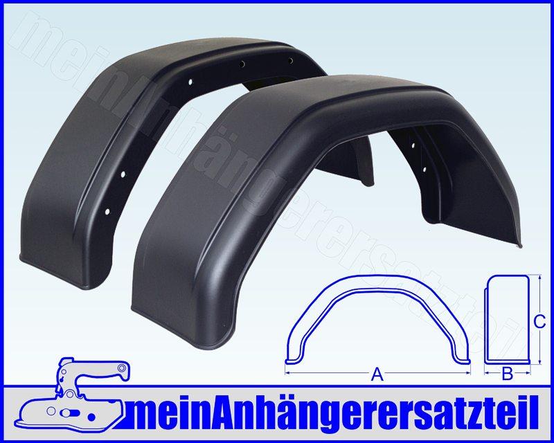 24x80 cm f/ür Pkw Anh/änger Kunststoff Schutzblech Kotfl/ügel 240x800mm