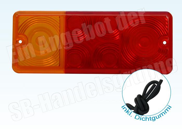 5x Lichtscheibe Ersatzglas für DDR Rückleuchte Dreikammerleuchte Dichtschnur