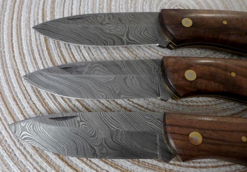 Damast Messer Damastmesser EDELHOLZ 256 LAGEN GÜRTELTASCHE TOPQUALITÄT