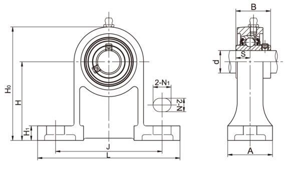 UCPH 206 Lagerbock Hoch Gehäuselager UCPH206 30 mm Welle Lagergehäuse