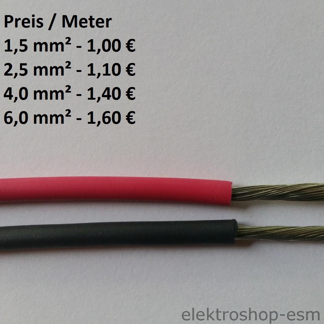 1m Kabel Aderleitung Leitung flexibel H07V-K 16mm2 Meterware neu