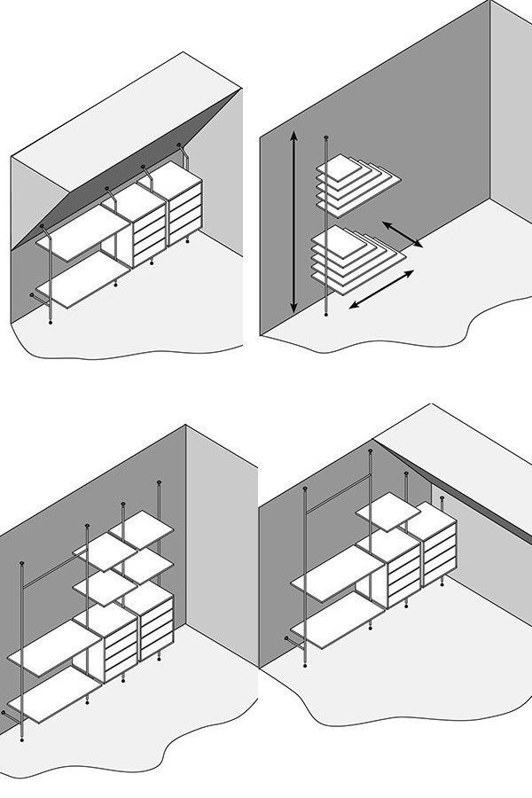 Regalsystem Trägerrohrsystem Wandregal Messebau Ladeneinrichtung Ladenbau