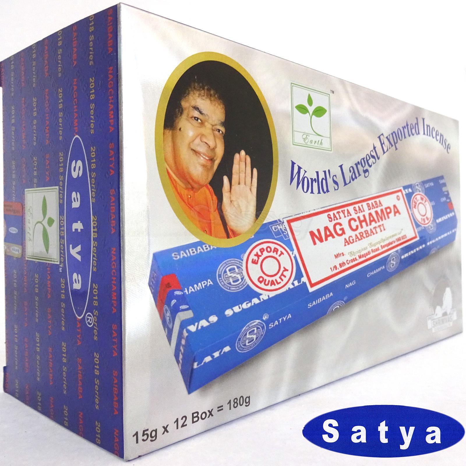 BLACK CHAMPA von Satya BNG Earth 12x 15g BIG PACK Aroma Nag Champa Incense