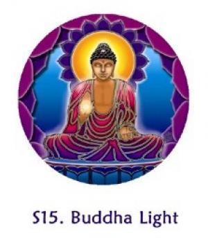 Buddha Light ø 105 Cm Fensterbild Yoga Window Sticker