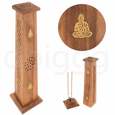 buddha r ucherturm sheesham holz konisch r ucherst bchen kegelhalter ebay. Black Bedroom Furniture Sets. Home Design Ideas