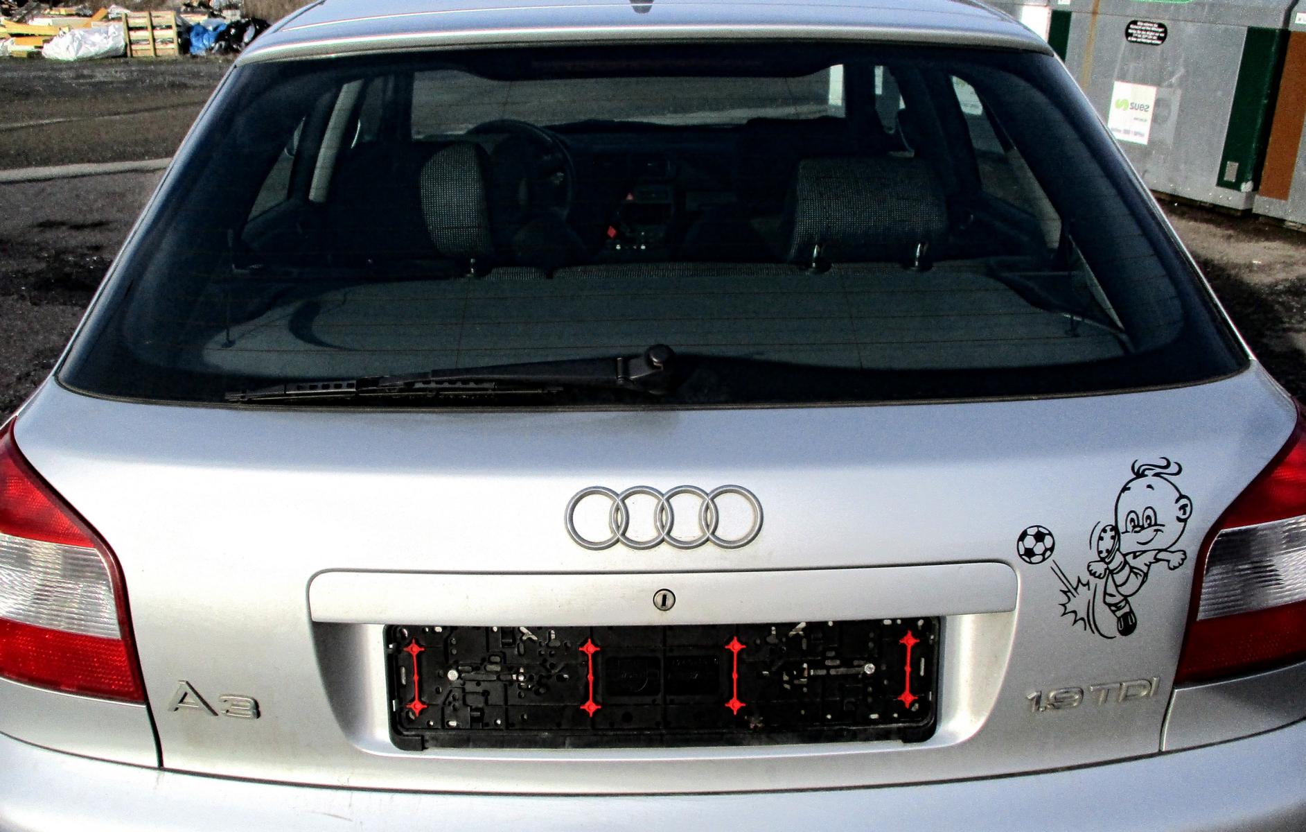 audi a3 8l heckklappe bj 2003 ly7w lichtsilber metallic. Black Bedroom Furniture Sets. Home Design Ideas