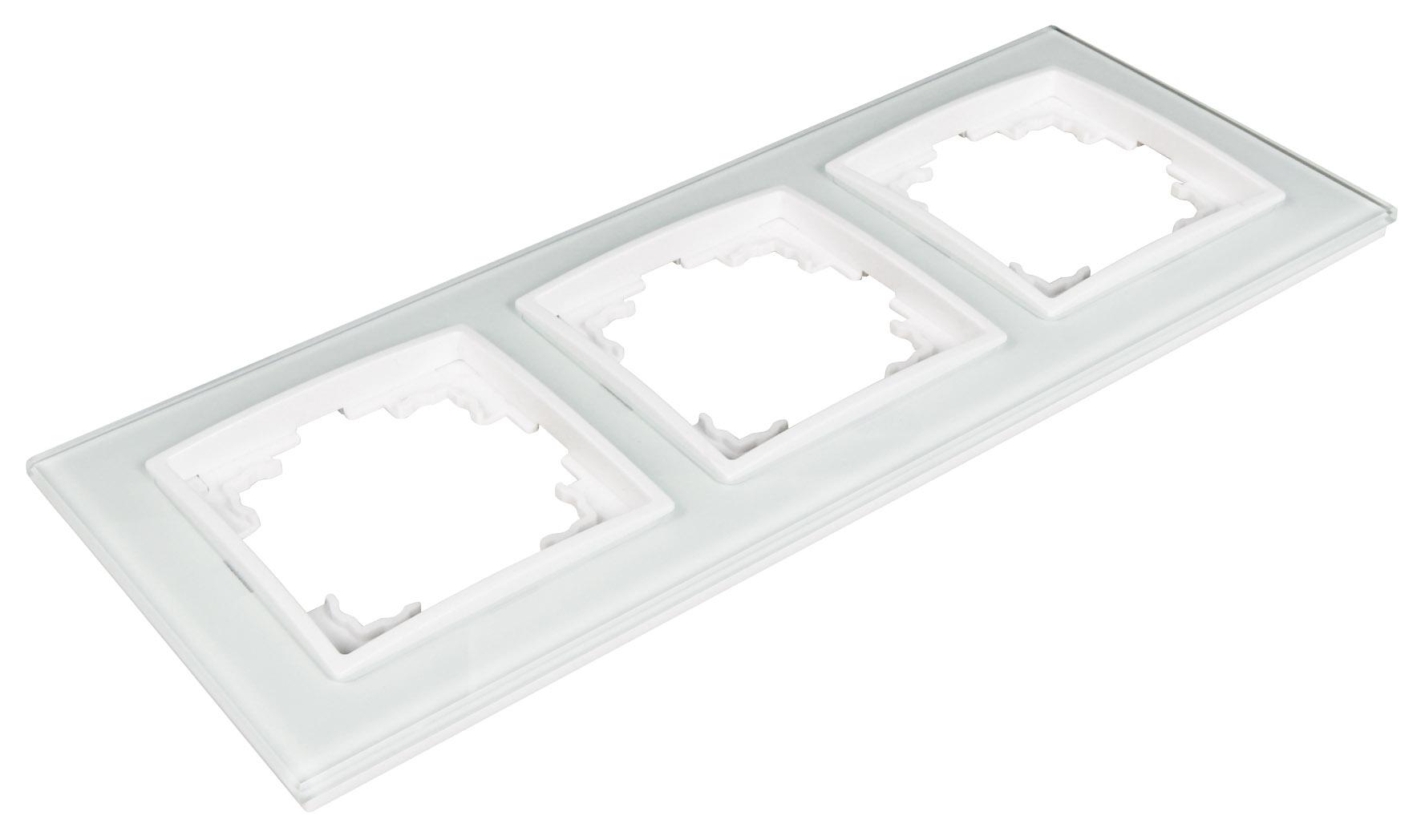 FLAIR weiß Steckdose Schalter Dimmer Bewegungsmelder Glas Rahmen ...