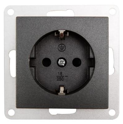 Steckdose Taster Schalter Antenne SAT RJ45 Jalousie Glas Rahmen FLAIR anthrazit