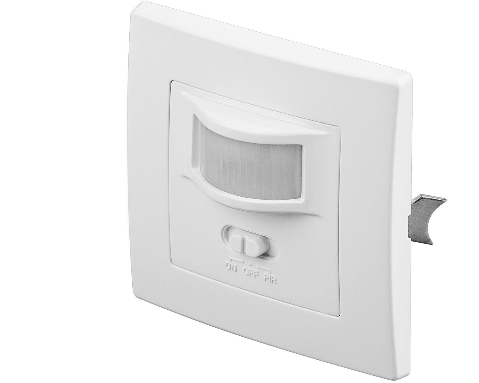 infrarot bewegungsmelder 160 unterputz wand einbau f r lampen leuchten led ip20 ebay. Black Bedroom Furniture Sets. Home Design Ideas