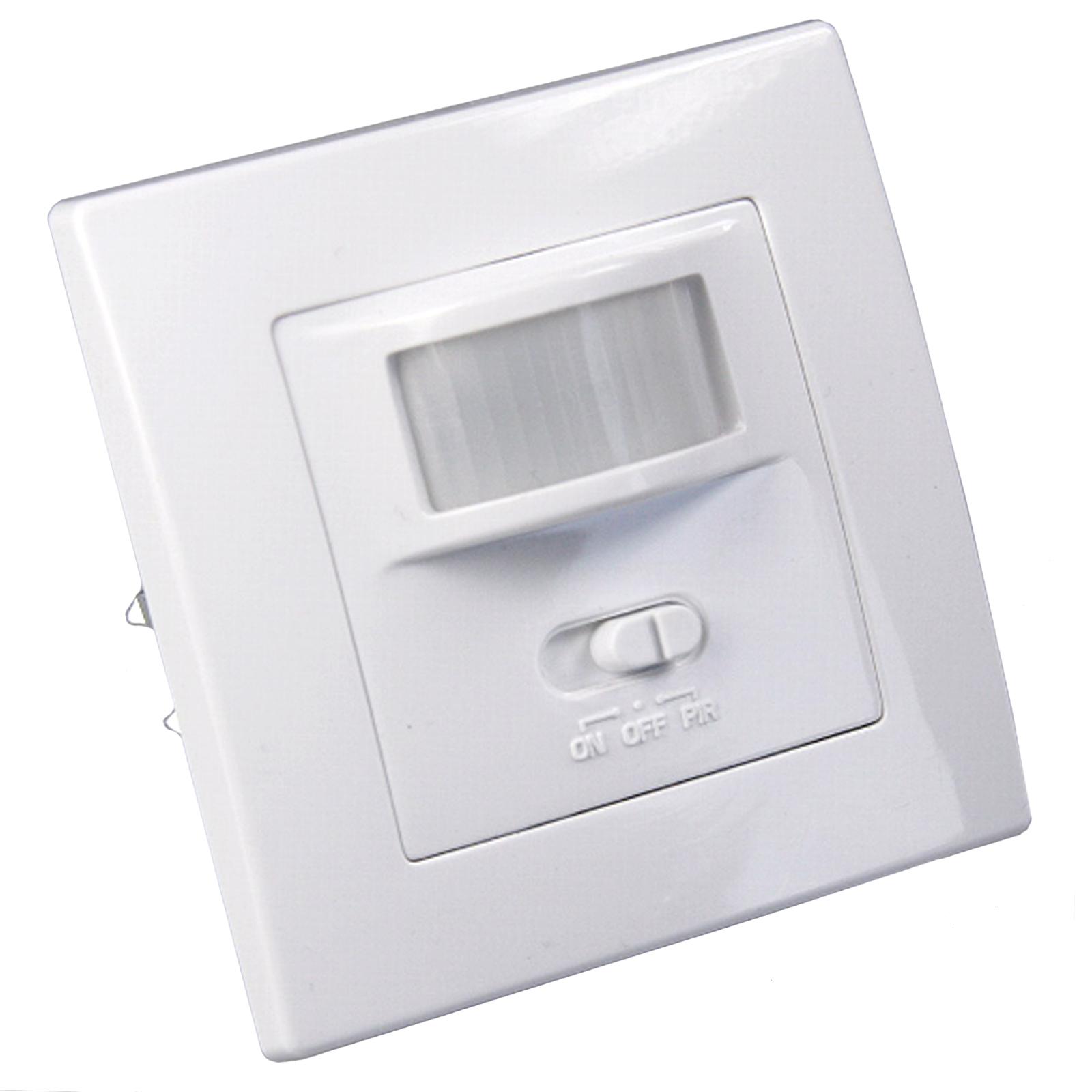 infrarot bewegungsmelder unterputz wand einbau 160 9m 1 500w led lampen ip20 ebay. Black Bedroom Furniture Sets. Home Design Ideas