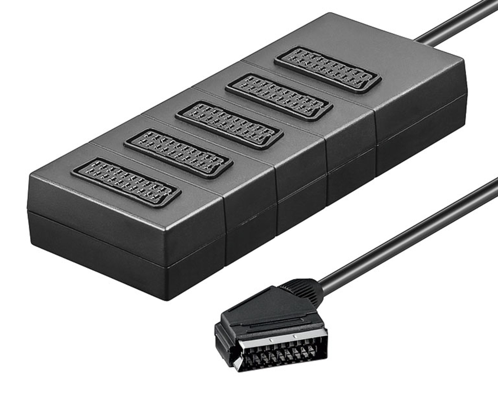5fach 5 scart verteiler adapter stecker tv scartverteiler. Black Bedroom Furniture Sets. Home Design Ideas