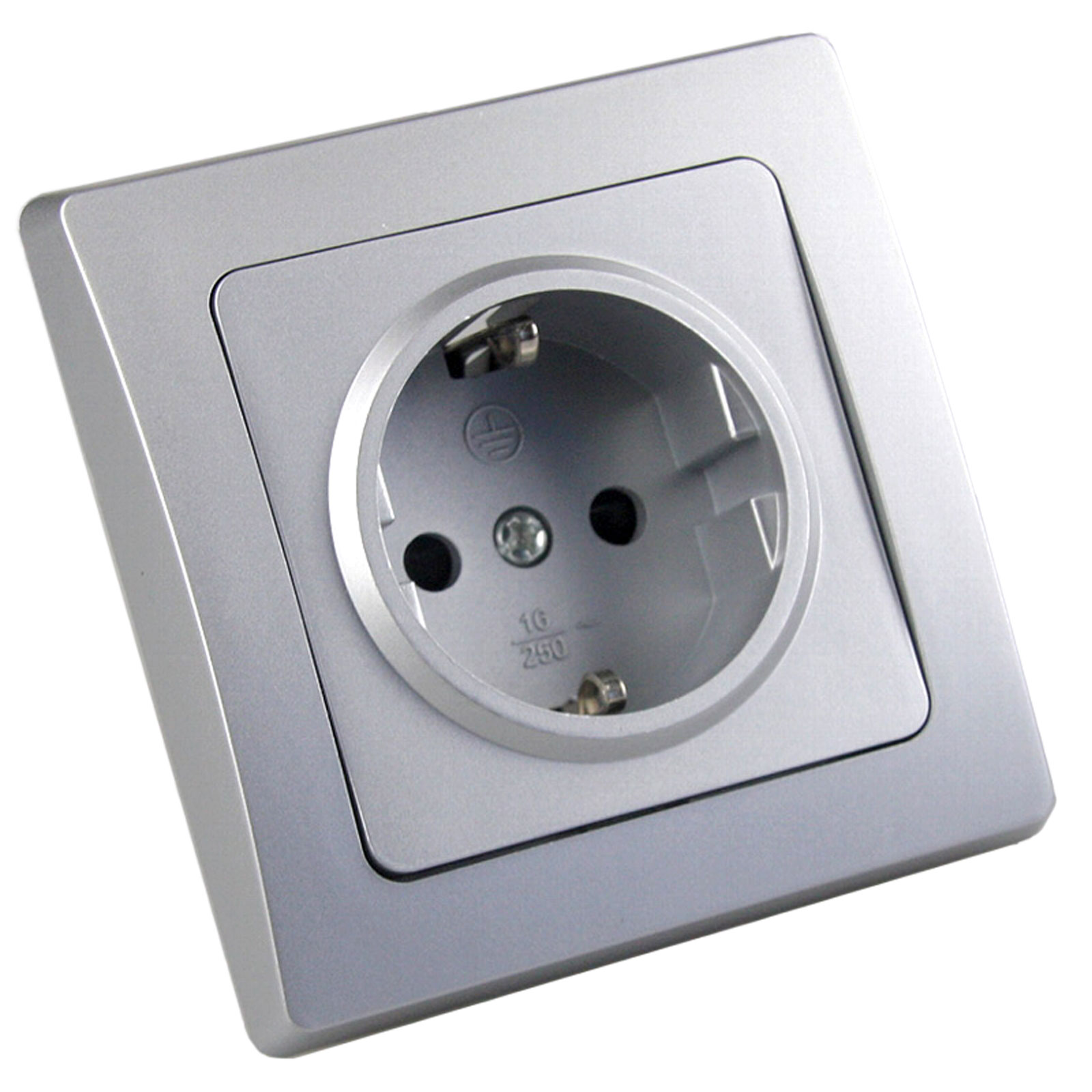 DELPHI silber Schalter LED Dimmer Taster Bewegungsmelder Steckdose ...