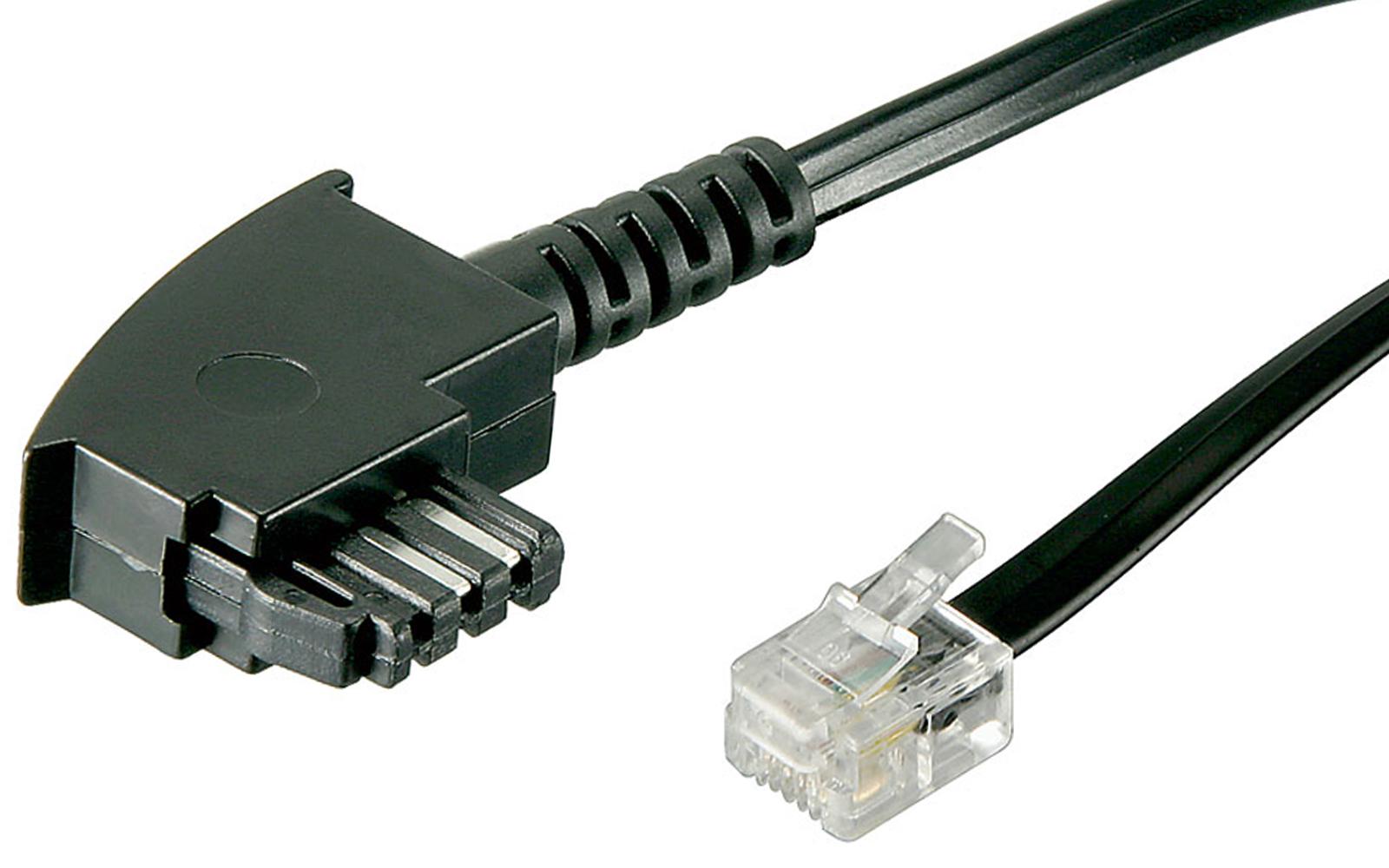6m telefon kabel tae f auf rj11 stecker 6p4c 4 polig internationale belegung ebay. Black Bedroom Furniture Sets. Home Design Ideas
