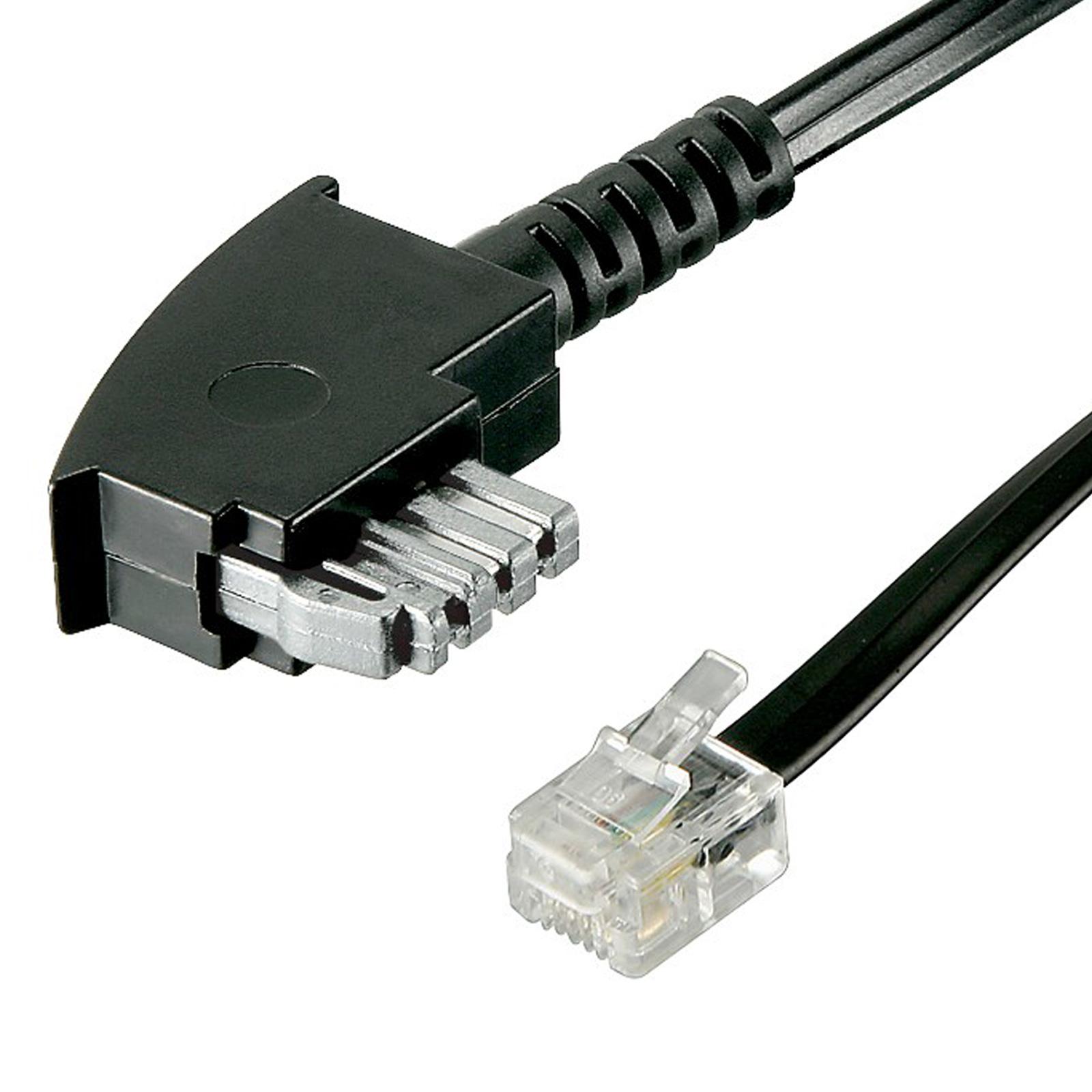 3m telefon kabel mit br cke tae n st rj11 st 6p2c f r. Black Bedroom Furniture Sets. Home Design Ideas