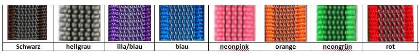 1 Meter gummiertes Gurtband Farbauswahl ; 20mm antirutsch Nylonband