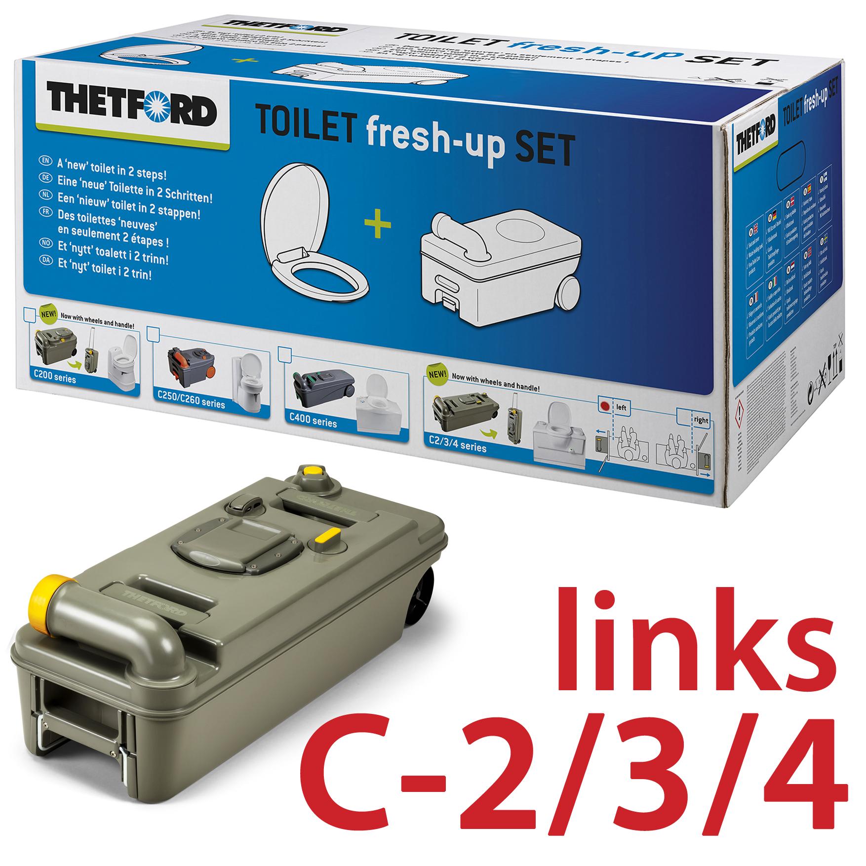 Abwassertank Thetford Casetten Toilette C200 Fresh Up Set