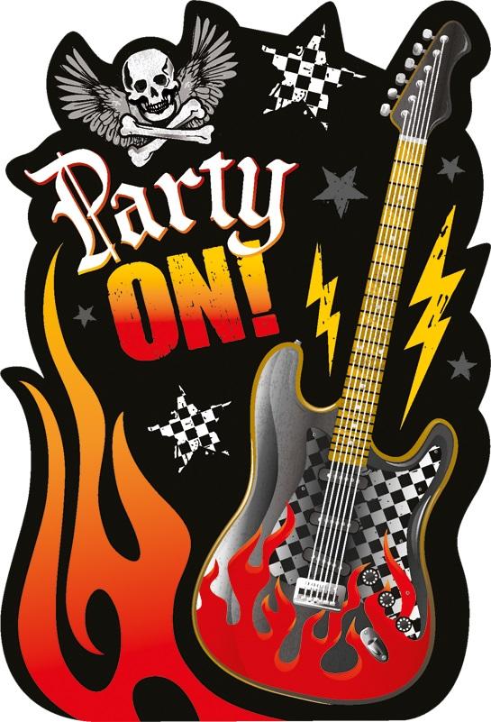 Rock On Heavy Metal Mottoparty Party Einladungen