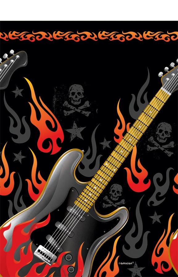 Rock On Heavy Metal Mottoparty Party Tischdecke