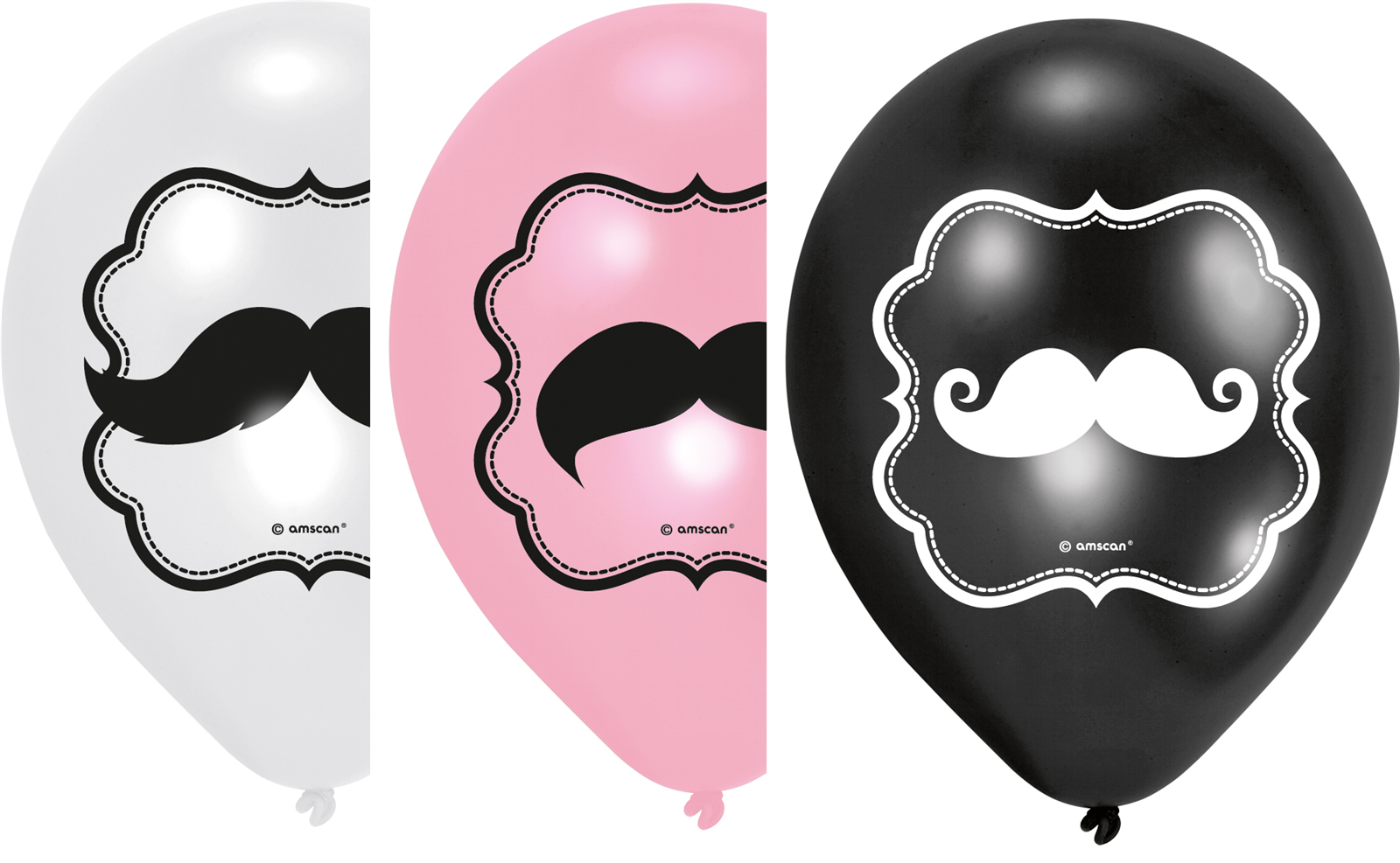 MOUSTACHE Schnurrbart Party Luftballons