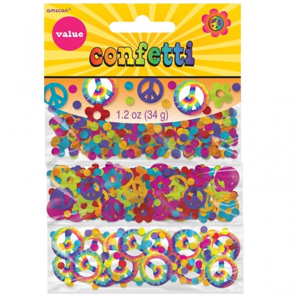 flower power 60er 70er jahre hippie deko set servietten confetti ebay. Black Bedroom Furniture Sets. Home Design Ideas