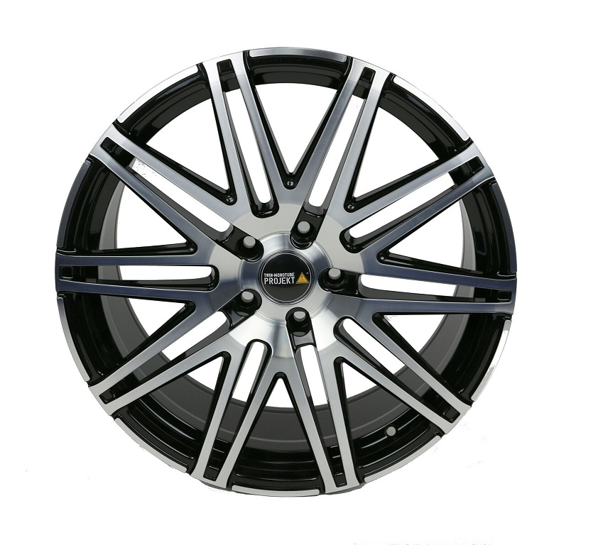2x Twin Monotube Projekt Felge 9x20 ET42 für VW T5 + T6 konkav fp