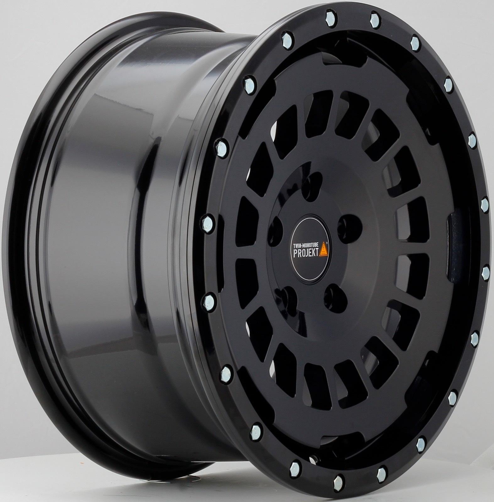 4x Allterrain Felge 8x17 schwarz matt für VW T6.1 Twin Monotube Proje