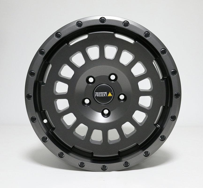 4x Allterrain Felge 8x17 granit matt für VW T5 T6 Twin Monotube Projek