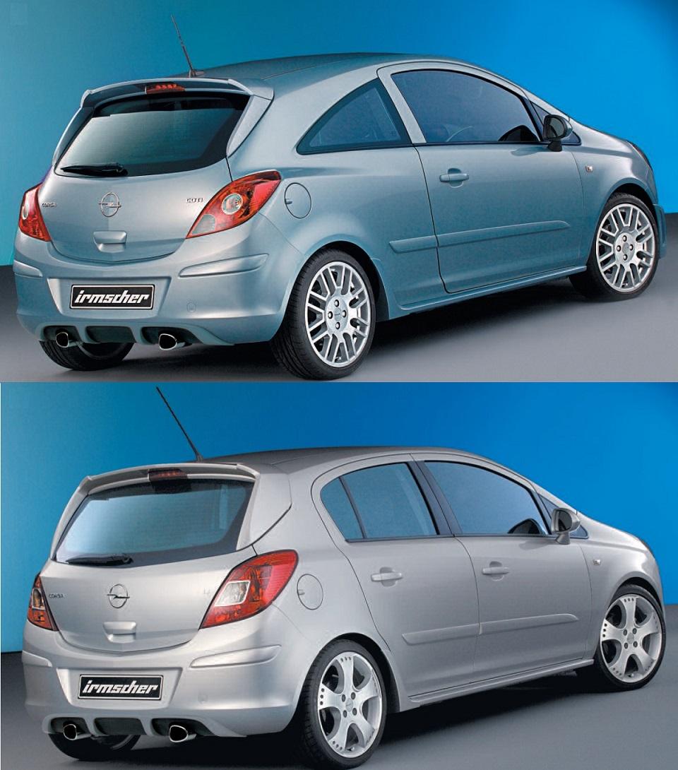 Irmscher Heckschürzeneinsatz Heckdiffusor Opel Corsa D