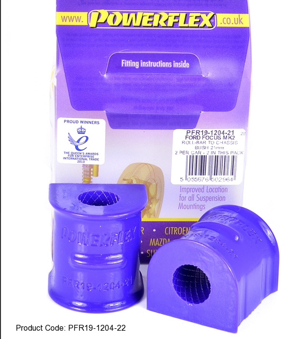 Powerflex PU Buchse Stabilisator Lager HA 22mm Ford Focus III & ST