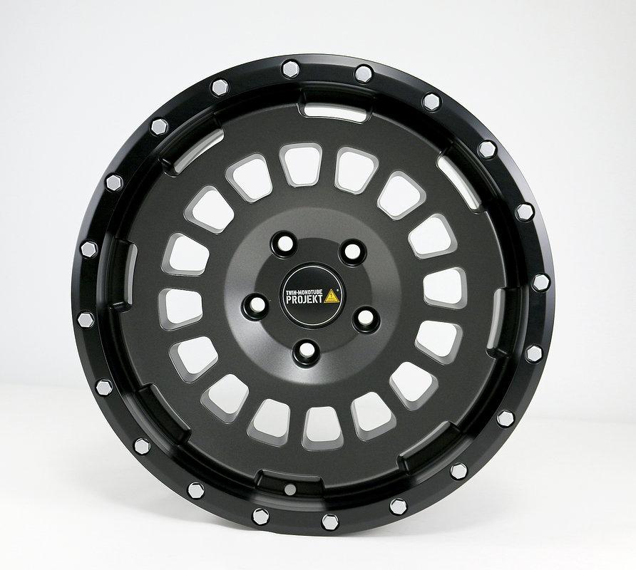 4x Allterrain Felge 8x17 stone matt für VW T6.1 Twin Monotube Proje