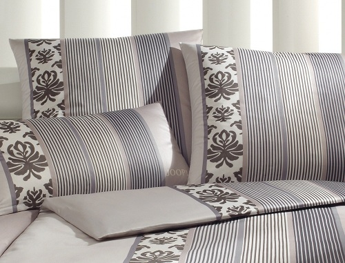 JOOP! Bettwäsche Ornament Stripes 4022-77 Graphit 135x200