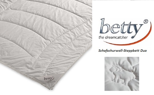betty Wolle Schafschurwoll-Steppbett Duo 240x220 Schafwolle