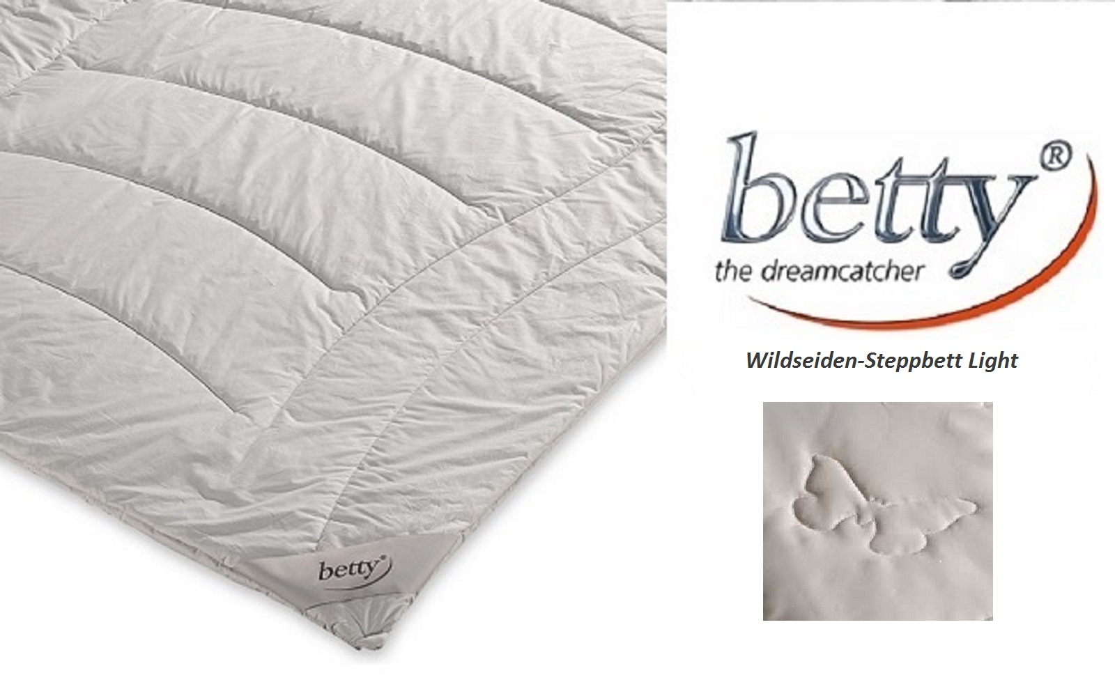 betty silk Wildseiden-Steppbett Light 240x220