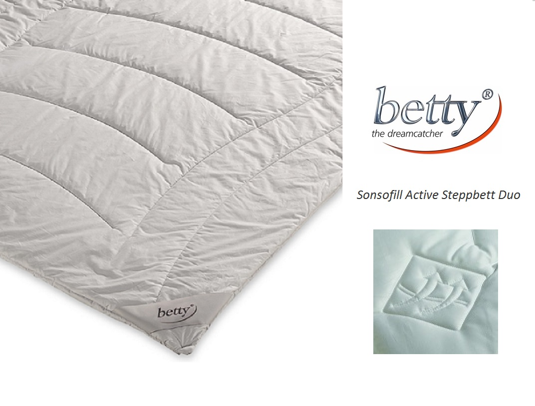 betty Sensofill Textilfaser Active-Steppbett Duo Bezug 100% Baumwolle