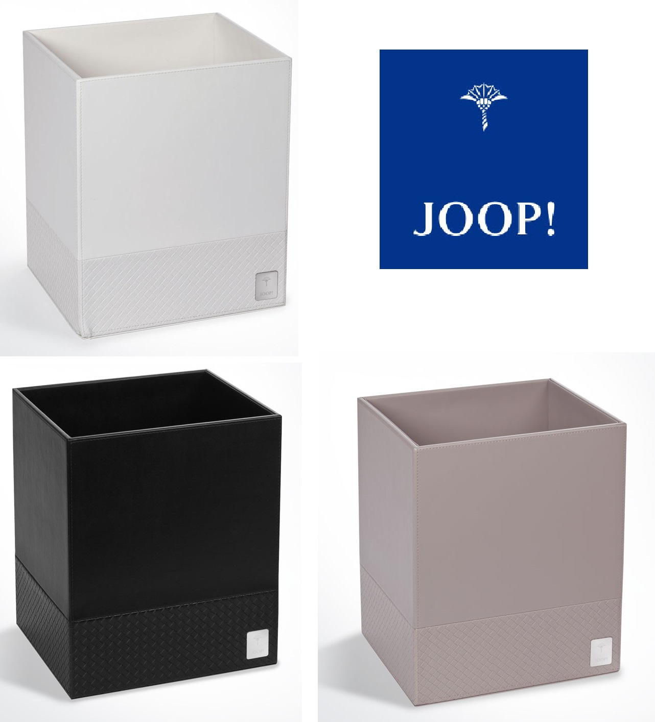 JOOP! Bathline Papierkorb Leder Optik elegantes Design