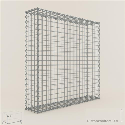 gabione steinkorb 100 x 100 x 20 cm maschenweite 5 x 5 cm gabionen ebay. Black Bedroom Furniture Sets. Home Design Ideas