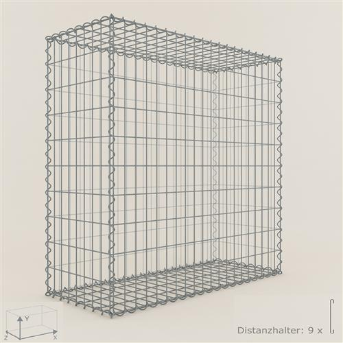 gabione steinkorb 100 x 100 x 40 cm maschenweite 5 x 10 cm gabionen ebay. Black Bedroom Furniture Sets. Home Design Ideas