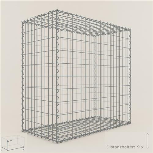 gabione steinkorb 100 x 100 x 50 cm maschenweite 5 x 10 cm gabionen ebay. Black Bedroom Furniture Sets. Home Design Ideas