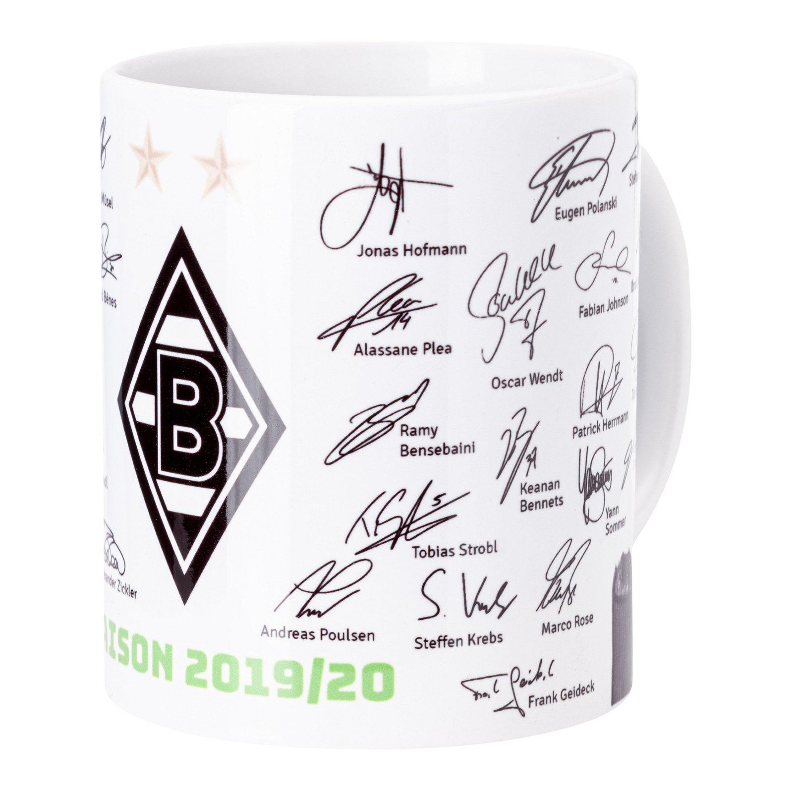 Borussia Dortmund BVB Unterschriftentasse Tasse Mannschaft Unterschriften 2019//2020