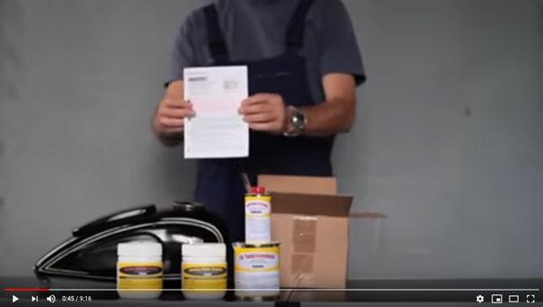 Video zur Tankrestauration mit Produkten von tankdoc