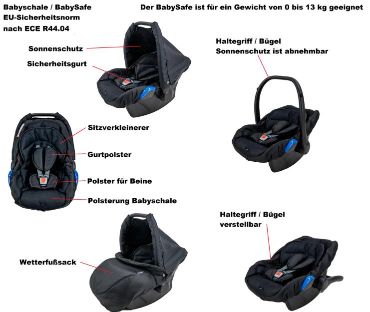 BabySafe Babyschale Springer Kinderwagen